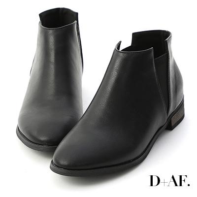 D+AF 自信新作.V字鬆緊切爾西短靴*黑