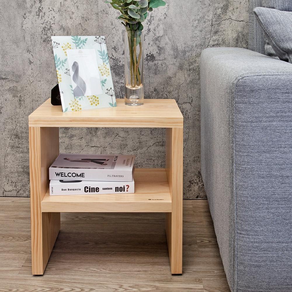 Boden-森林家具 1.4尺全實木小茶几/邊几/和室桌-42x32x47cm
