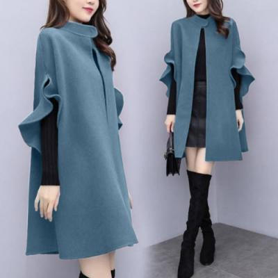【韓國K.W.】(預購)好感風格毛料風衣外套