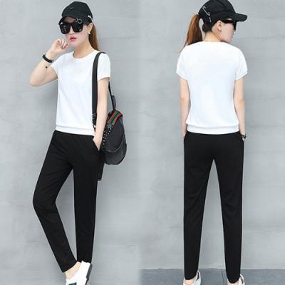 【韓國K.W.】(預購)韓風質感運動套裝褲-1色