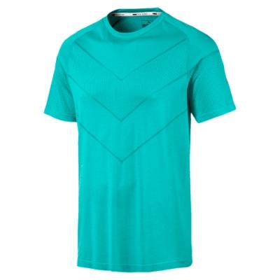 PUMA-Reactive evoKNIT短袖T恤-土耳其藍(麻花)-歐規