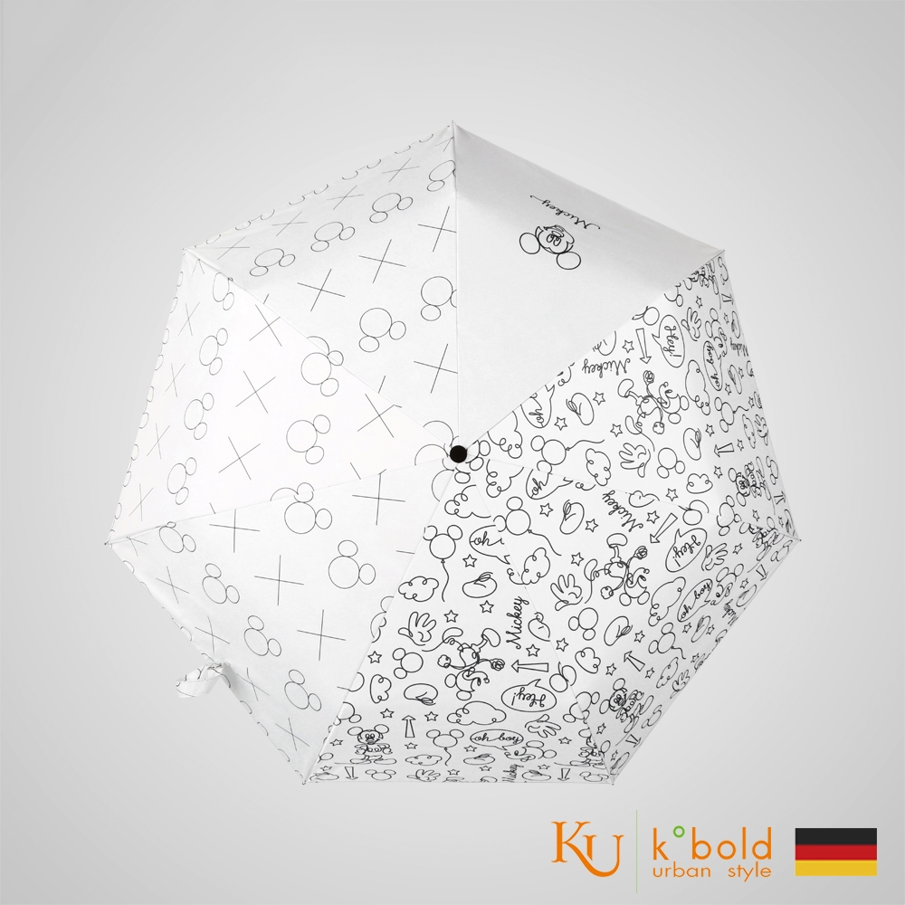 德國kobold 7K晴雨兩用傘-簡筆塗鴉(白)