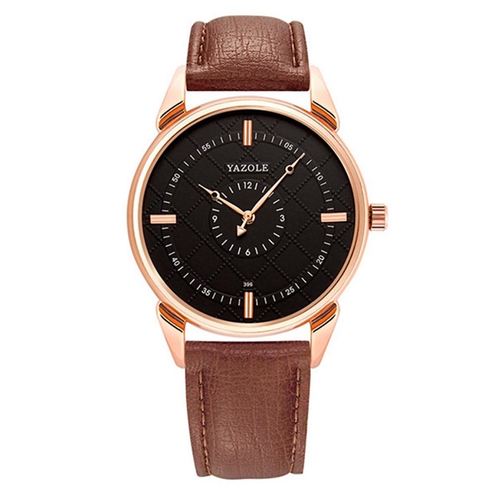 YAZOLE 亞卓倫396-贏在專注匠心製造商務文青手錶