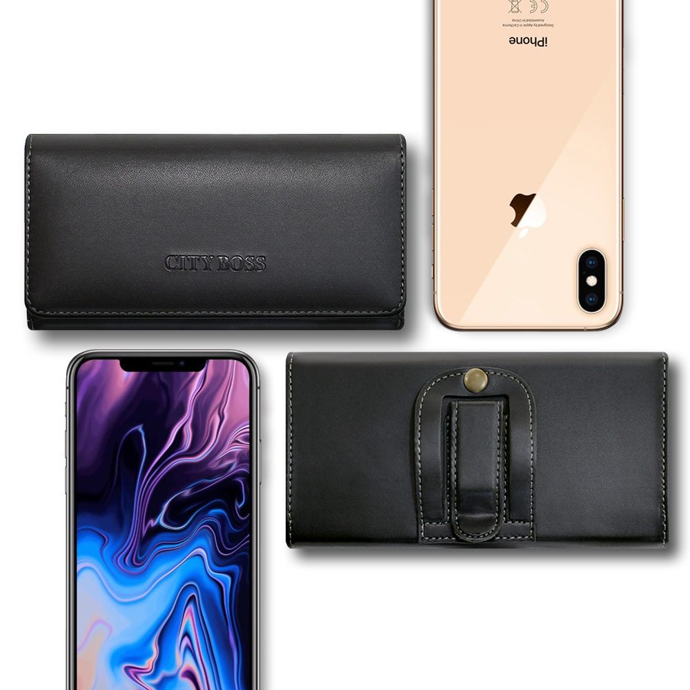 City  For iPhone Xs Max 6.5吋 多功能美學腰掛皮套 @ Y!購物
