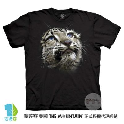 摩達客-預購-美國進口The Mountain 雪豹寶寶 兒童版純棉環保藝術中性短袖T恤