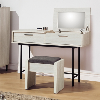 AS-亞提3.5尺掀式鏡台(含椅)-106x40x75.5cm