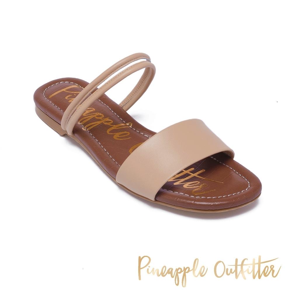 Pineapple Outfitter 休閒時尚款一字拖涼鞋-米杏色