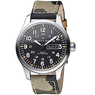 Hamilton漢米爾頓卡其野戰系列迷彩時尚腕錶(H70535031)