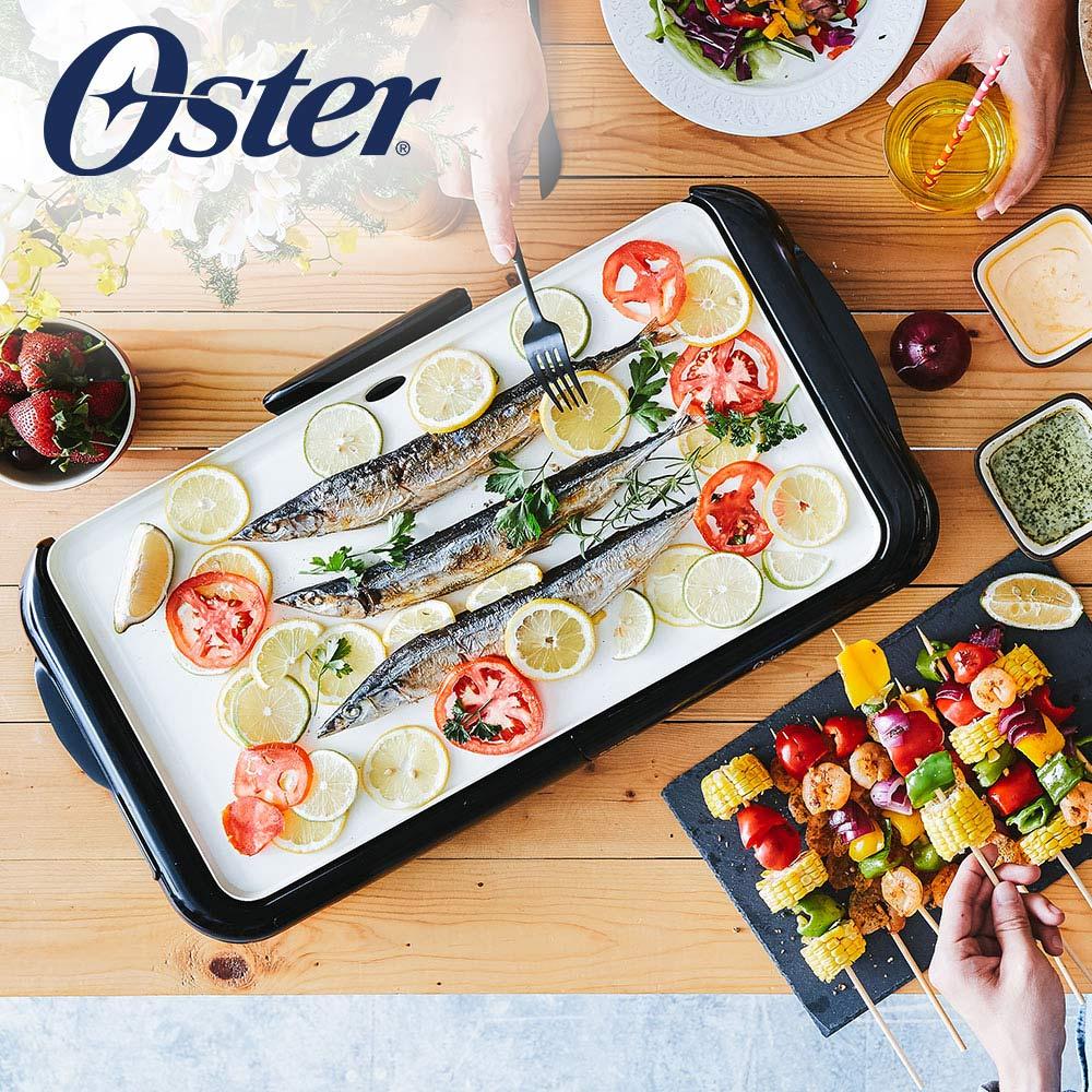 (結帳驚喜價)美國OSTER BBQ陶瓷電烤盤CKSTGRFM18W-TECO
