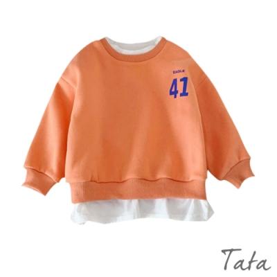 童裝 數字印花撞色假兩件上衣 TATA KIDS