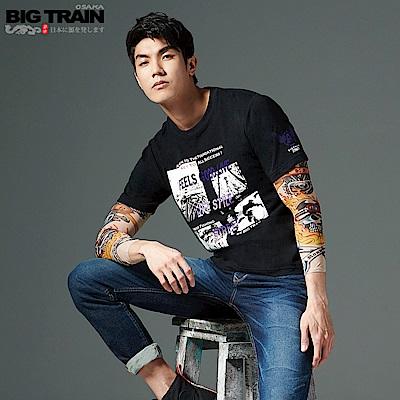 BigTrain圖片潮流彈性圓領T-男-黑色
