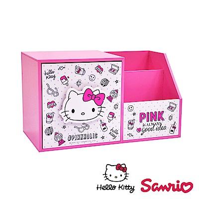 Hello Kitty 凱蒂貓大容量單抽盒 文具收納盒 筆筒 手機架 桌上收納
