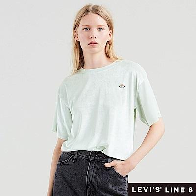 Levis 女款 短袖T恤 Line 8 系列 刺繡圖案 彈性布料