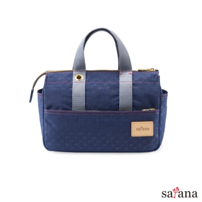 satana - Soldier 輕巧手提包 - 礦青藍