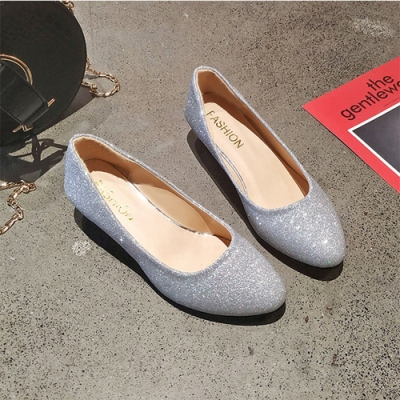KEITH-WILL時尚鞋館 時尚歐美百搭包頭鞋-銀色