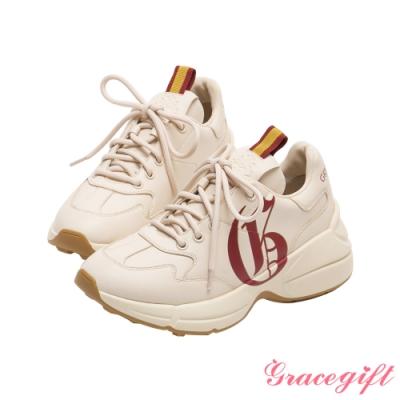 Grace gift-哈利波特葛來分多學院休閒老爹鞋 酒紅