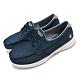Skechers 休閒鞋 Go Walk Lite 帆船鞋 女鞋 無鞋帶 好穿脫 郊遊 輕量 回彈 避震 藍 白 136072DEN product thumbnail 2