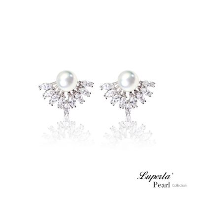 大東山珠寶 純銀晶鑽珍珠耳環 星河燦燦