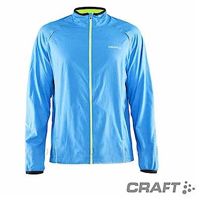 Craft 男款 ACTIVE RUN 反光防風防潑跑步外套_水藍