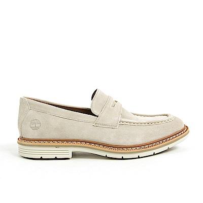Timberland 男款淡灰褐色麂皮橫帶樂福鞋 | A1OMXK51