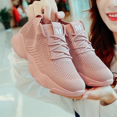 韓國KW美鞋館-輕美學純白柔紗運動老爹鞋(老爺鞋 運動鞋 休閒鞋)(共2色)