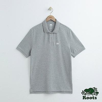 男裝Roots 經典短袖POLO衫-灰