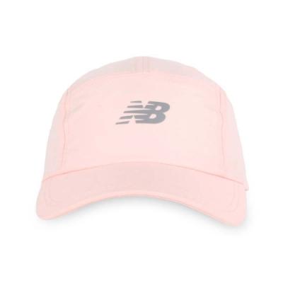 NEWBALANCE 專業跑步帽 粉橘銀