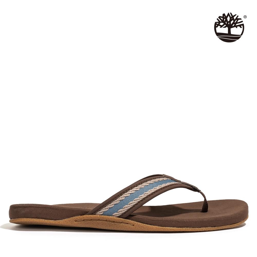 Timberland 男款藍色織帶人字拖鞋|A2QY8