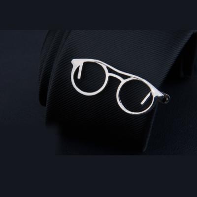 Laifuu拉福,領帶夾銀眼鏡襯衫夾領夾(附盒)