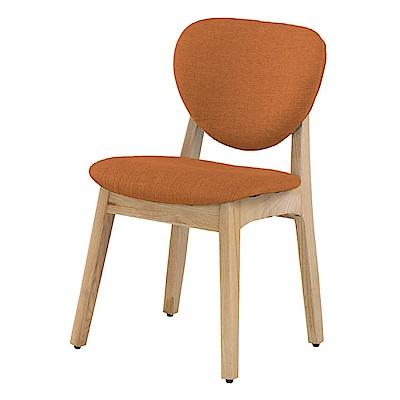 文創集 艾菲亞時尚亞麻布實木餐椅組合(二入組+二色可選)-49x52x80cm免組