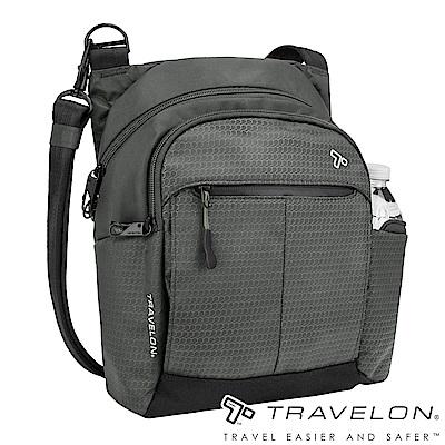 Travelon美國防盜包 防割鋼網運動系列旅行斜背包TL-43124-18灰