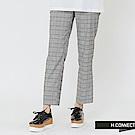 H:CONNECT 韓國品牌 女裝-知性格紋直筒長褲-藍