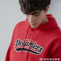 GIORDANO 男裝 Dreamers系列復古風連帽T恤-02 新冠軍紅
