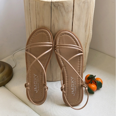 KEITH-WILL時尚鞋館 獨家價韓國氣質題單品自然涼鞋-卡其