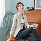 時尚格調一字口袋條紋西裝小外套M-3XL(共二色)-Dorri