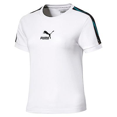 PUMA-女性流行系列Wild短袖T恤-白色-歐規