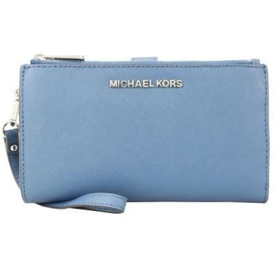 MICHAEL KORS JET SET防刮手掛式雙層長夾-藍
