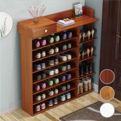 【時時樂限定】慢慢家居 寬度100cm-八層簡易多功能收納鞋櫃(三色任選)