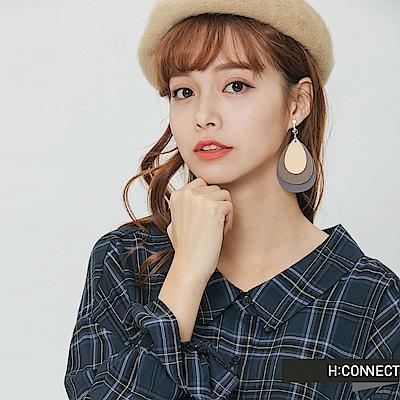 H:CONNECT 韓國品牌 -層次感水滴夾式耳環