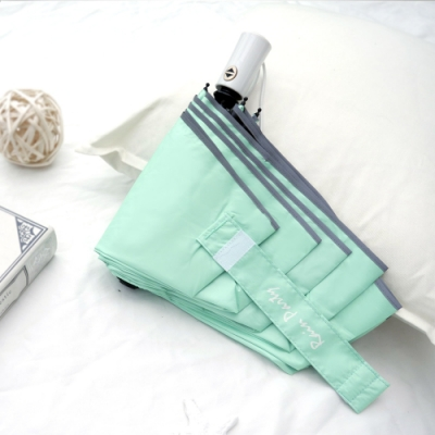 好傘王 自動傘系_輕白限定晴雨兩用黑膠電光輕大傘(綠色)
