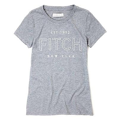 麋鹿 AF A&F 經典圖案設計短袖T恤(女)-灰色