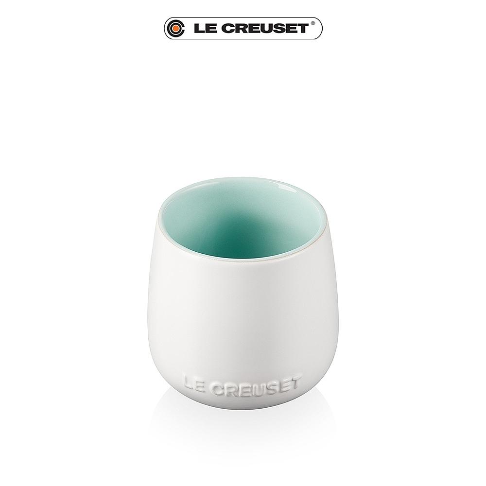 [任4件6折] LE CREUSET瓷器花蕾系列馬克杯250ml-棉花白/甜薄荷