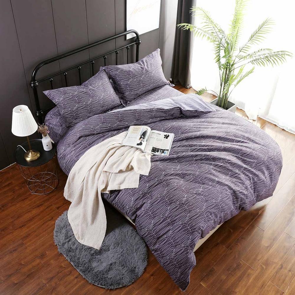 夢工場 空霧裊裊60支紗長絨棉床包兩用被組-特大