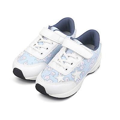 BuyGlasses 童顏童語魔鬼氈慢跑鞋-藍