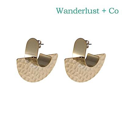 Wanderlust Co 澳洲時尚品牌 NIA半圓造型耳環 金色