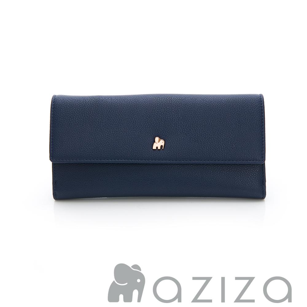 aziza 翻蓋長夾-藍