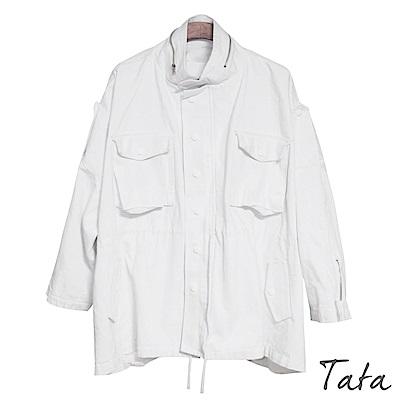 寬鬆抽繩收腰風衣外套 共二色 TATA