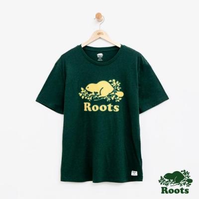 男裝Roots 庫柏海狸短袖T恤-綠