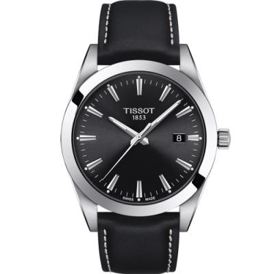 TISSOT天梭GENTLEMAN紳士密令石英男錶(T1274101605100)