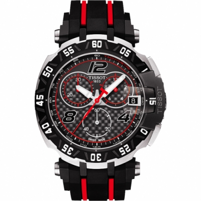 TISSOT T-Race MotoGP 2016 限量賽車計時腕錶-黑/45mm T0924172720700